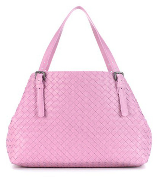 Bottega Veneta leather pink bag