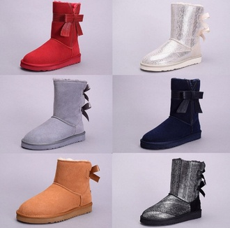 ugg boots boots red shoes grey boots silver