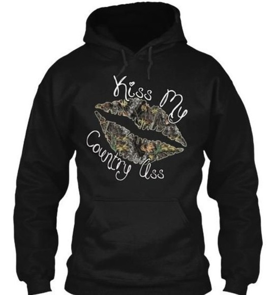 camo camouflage sweater sweatshirt country kiss lips