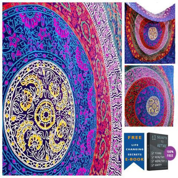 home accessory bohemian tapesty hippie bedspread