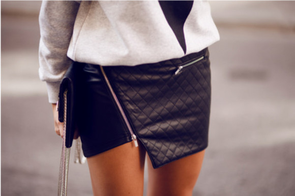 skirt zip black black skirt black leather skirt leather