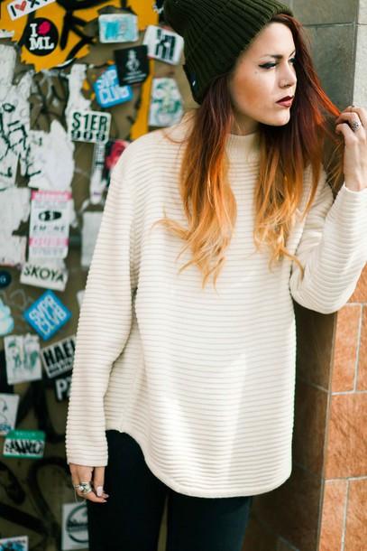 sweater lehappy white sweater