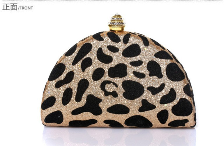 2013 free shipping Elegant luxury leopard clutches evening bag  diamond banquet bag clutch evening bag-in Evening Bags from Luggage & Bags on Aliexpress.com