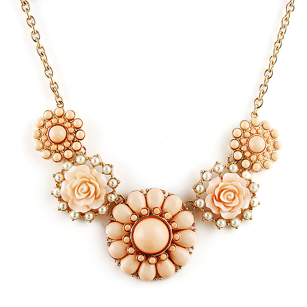 Two Colors New 2014 Jewelry Ethnic Flower Shape Imitation Rhinestone Necklace&Pendants Collar Choker Necklace  For Women-in Choker Necklaces from Jewelry on Aliexpress.com