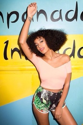 shorts,tank top,summer,solange knowles,top,pretty,trill,baddies,crop tops,peach,pink,solange