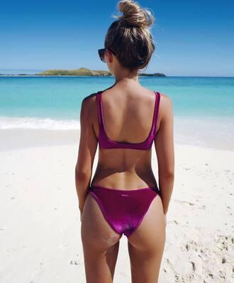 swimwear tumblr swimwear two piece bikini bikini top bikini bottoms velvet swimwear