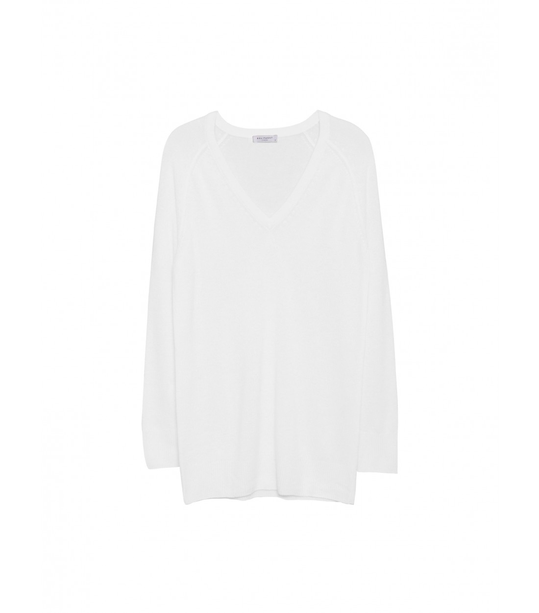 EQUIPMENT Asher V-Neck Ivory | Women's Cashmere Sweater