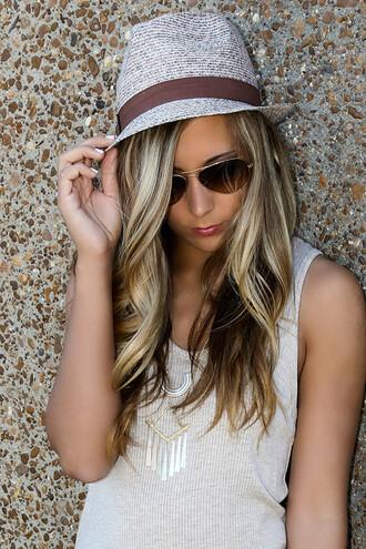 hat fedora summer trendy amazinglace amazinglace.com brown ribbon beige jason mraz mraz