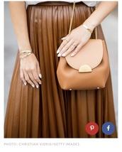 bag,rust,orange,chain strap