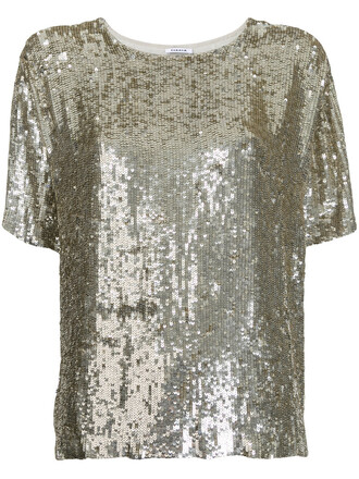top women grey metallic