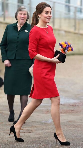 dress red dress kate middleton