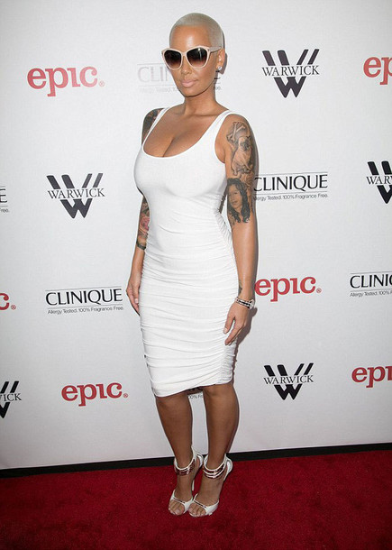 amber rose white dress sandals giuseppe zanotti