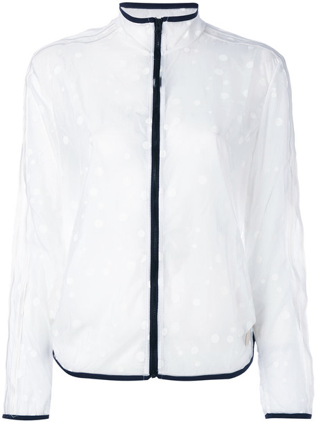 adidas Damen Jacke Transparent Windbreaker, White, 42