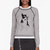 marc by marc jacobs heather grey olive dog intarsia sweatshirt