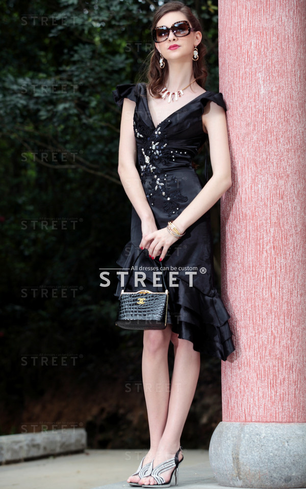 taffeta cocktail dress