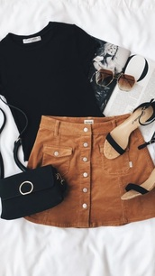 skirt,tan