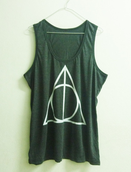 rock tank top harry potter tank top movie shirt triangle tank top harry potter harry potter clothing potter shirt demi lovato deathly hallows deathly hallows clothing deathly hallows tshirt dark grey dark gray shirt ladies ladies tank top ladies tee ladies clothing teen pop rocky women women tank top movie t shirt polyester