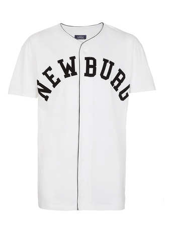 White Newburg Baseball T-Shirt - Gifts for Sons  - Christmas Shop  - TOPMAN