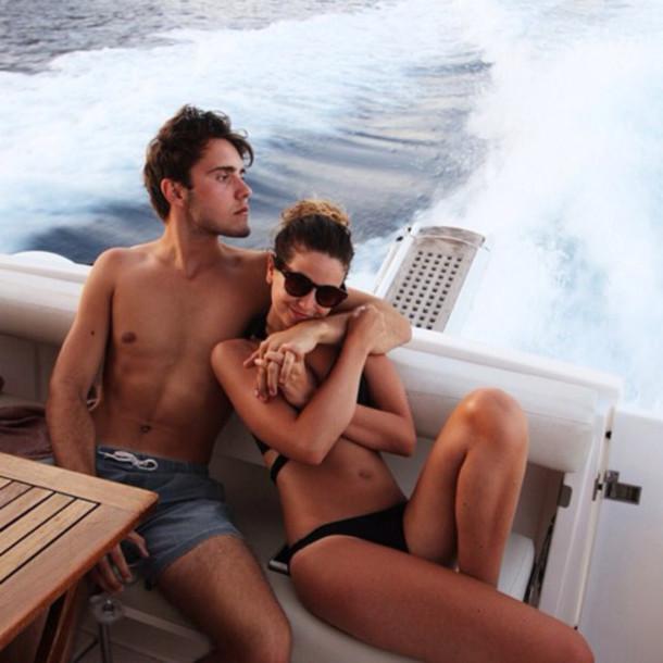 swimwear zoella sunglasses blue alfie deyes