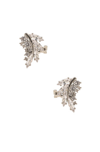 earrings metallic silver jewels