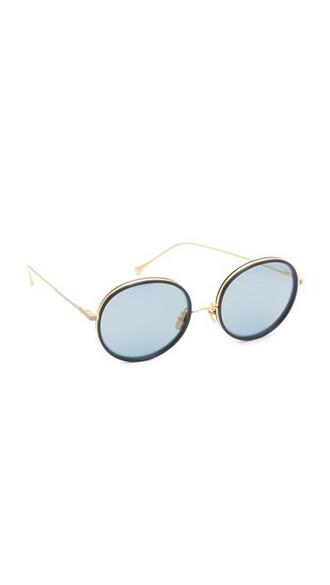 sunglasses mirrored sunglasses gold navy
