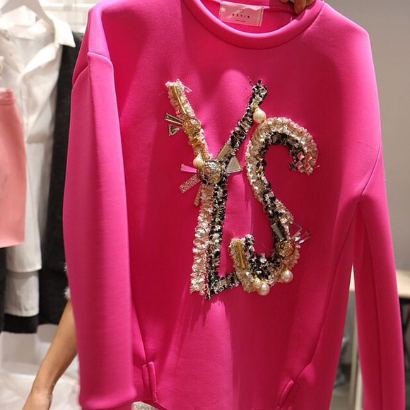 sweater pullover pink shirts ysl top ysl shirt ysl tshirt ysl pink jacket,hoodie,sweatshirt,black