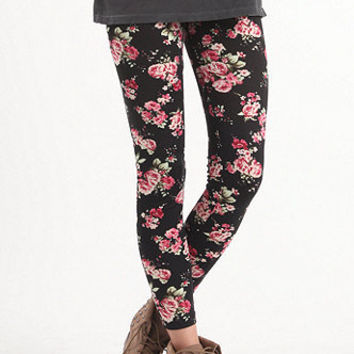 Nollie Black Rose Ponte Leggings at PacSun.com on Wanelo