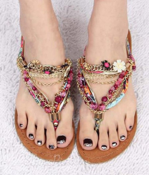 Shoes Sandals Heels Sneakers Boho Bohemian Summer