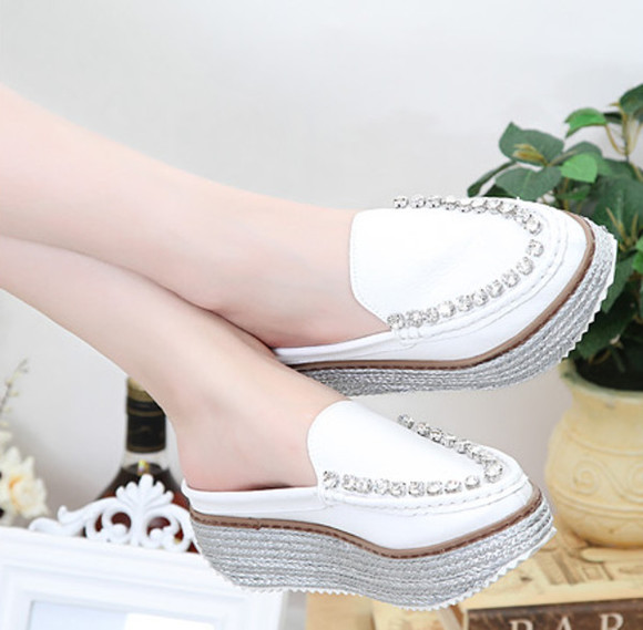 shoes summer casual wedge high heels platform