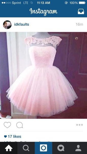 dress pastel pink fluffy semi formal dress ecc611e00