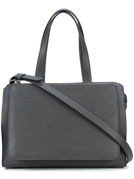 Valextra women leather grey bag