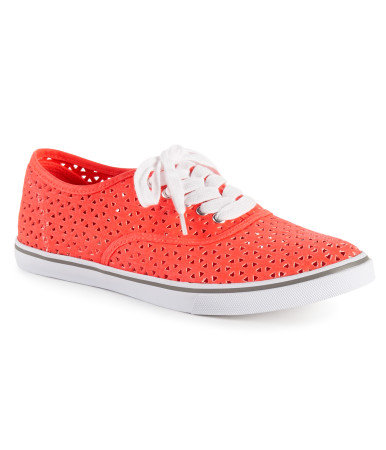 Perforated Canvas Sneaker