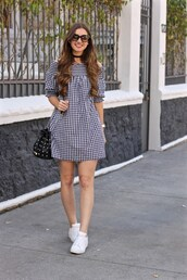 lamariposa,blogger,dress,shoes,sunglasses,jewels,mini dress,sneakers,bucket bag