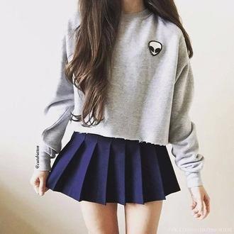 blouse girl girly make-up blue dress shorts shirt heart whereto