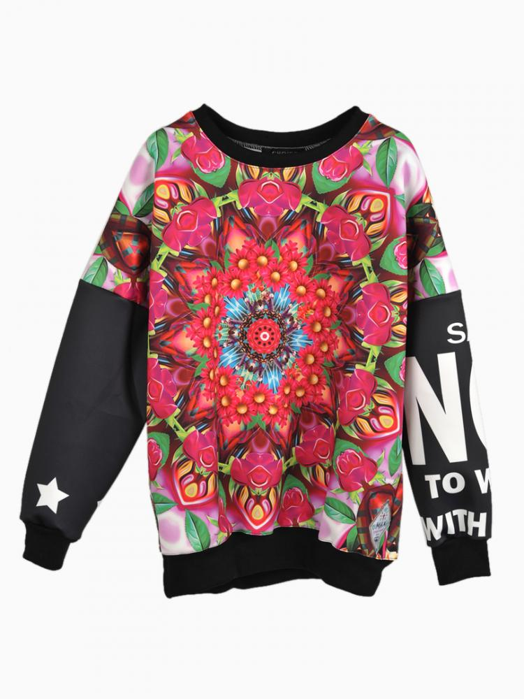 Kaleidoscope Patterned Sweatshirt | Choies