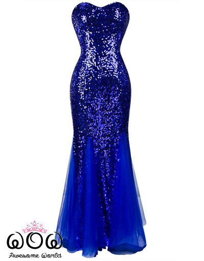 Sparkle tulle blue dress