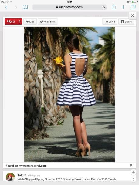 dress summer dress striped dress