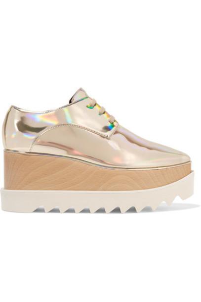 Stella McCartney metallic leather shoes