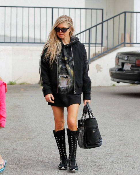 fergie boots jacket top shoes