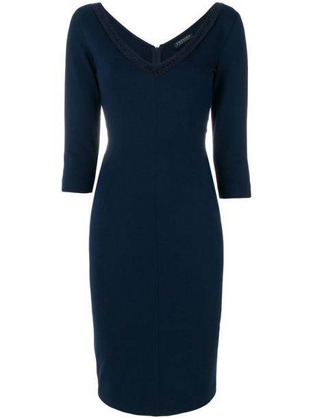 Twin-Set dress women spandex blue
