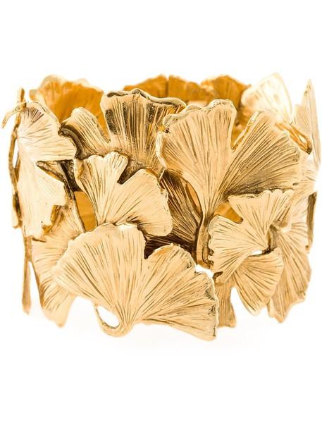 AURELIE BIDERMANN cuff women gold grey metallic jewels