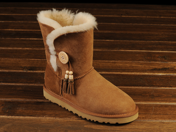 Femme UGG Bailey Button Tassels Bottes Chestnut 1002153 - - €103.61