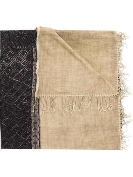 Uma Wang rustic print scarf - Brown