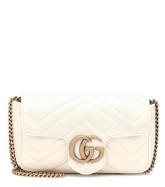 Gucci GG Marmont Super Mini shoulder bag in white