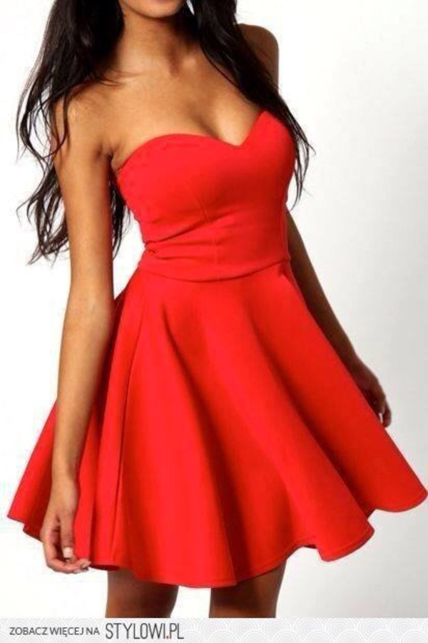 dress red dress mini dress