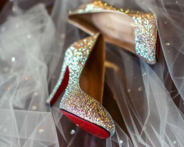 Shoes Glitter Studs Multicolor Love High Heels Pumps Sparkle Wedding Glamour Gilry Cute Women Amazing