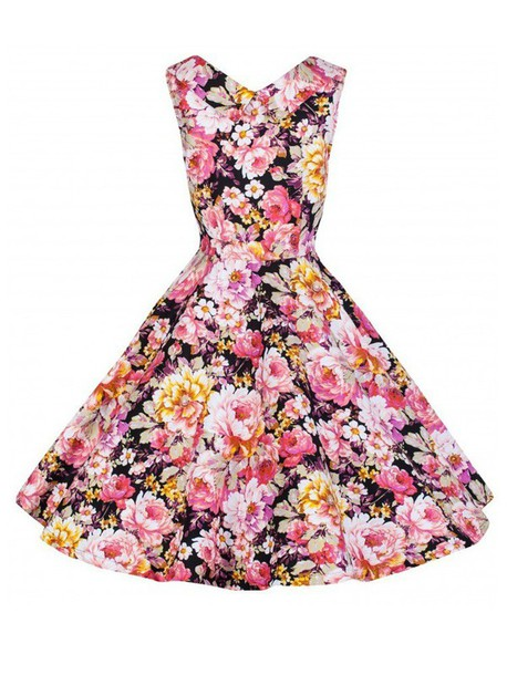 27e93ce812c95 dress audrey hepburn style dress party dress black dress retro dress  backless cotton vintage roses