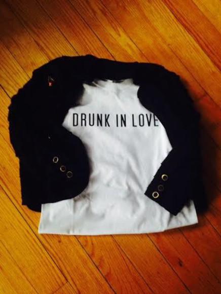 t-shirt rihanna drunk in love beyoncé womens trendy