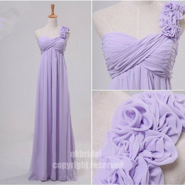 dress bridesmaid one shoulder chiffon