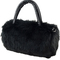Black faux fur shoulder bag -shein(sheinside)